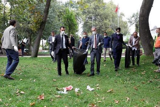 İnegöl'de, 15 Eylül Dünya Çöp Toplama Günü kapsamında etkinlik düzenlendi