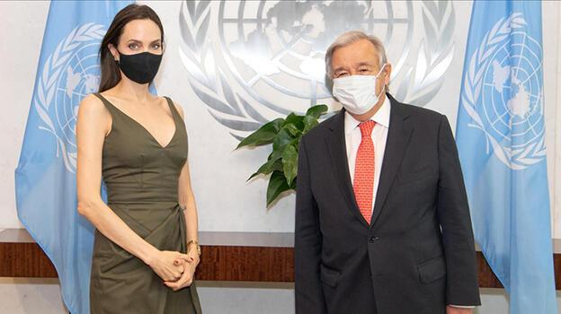 BM Genel Sekreteri Angelina Jolie ile görüştü