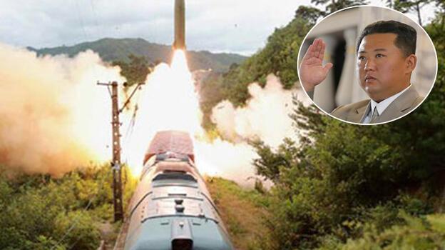 Son dakika... Gizemli füzelerin görüntüleri yayınlandı! Kuzey Kore yine şoke etti