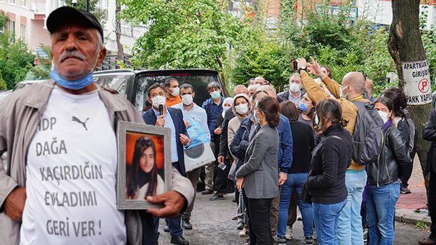 PKK'nın kaçırdığı kızı için Ankara'ya yürüyen baba ile HDP'liler arasında gerginlik!
