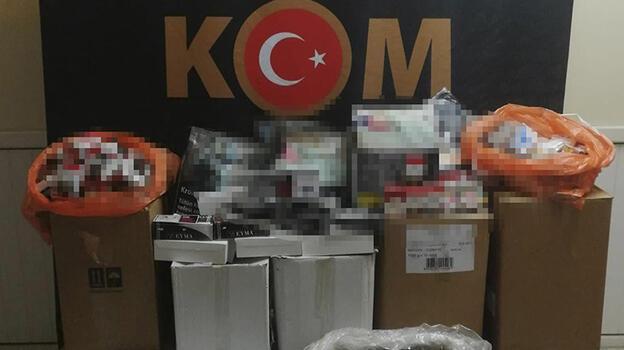 Tekirdağ'da kaçak tütün ve makaron operasyonu: 5 gözaltı