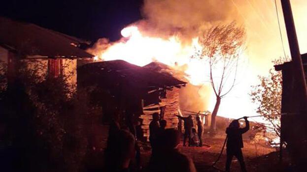 Ankara'da köyde çıkan yangında 8 ev kül oldu