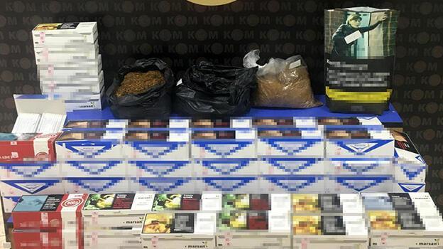 Edirne'de 3 kilo tütün ve 21 bin makaron ele geçirildi