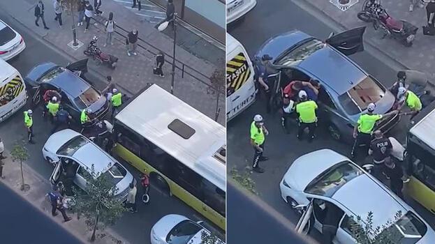 Lüks araç polisi alarma geçirdi! Şişli'de hareketli anlar