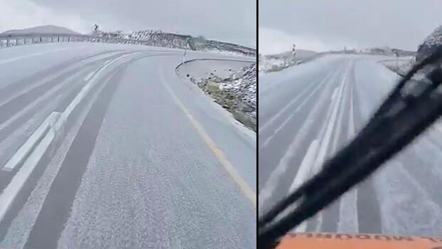 Son dakika... Erzurum'a ilk kar düştü!