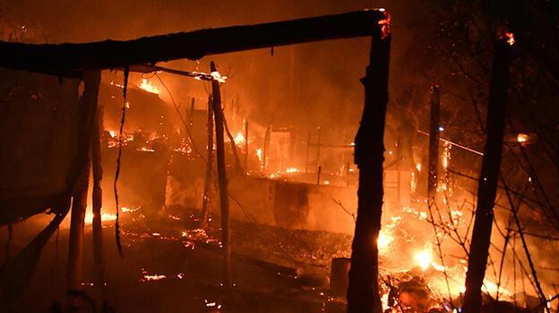 Yunanistan'da sığınmacı kampında yangın çıktı
