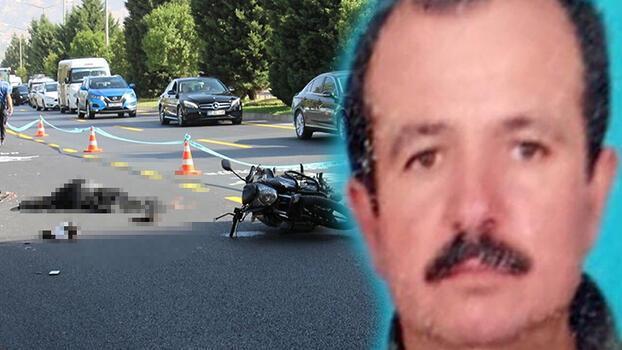 Otobüse sürtüp, yola savrulan kasksız sürücü hayatını kaybetti!