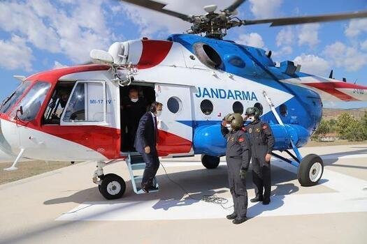 Çankırı'da helikopterli trafik denetimi