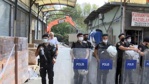 Rami Kuru Gıda Hali'nde yıkımlar başladı