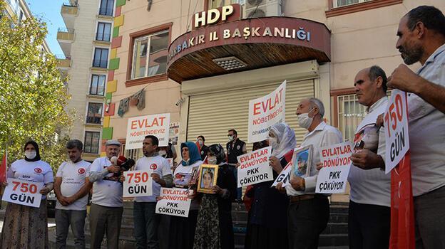 Diyarbakır'daki evlat nöbetinde 750'nci gün