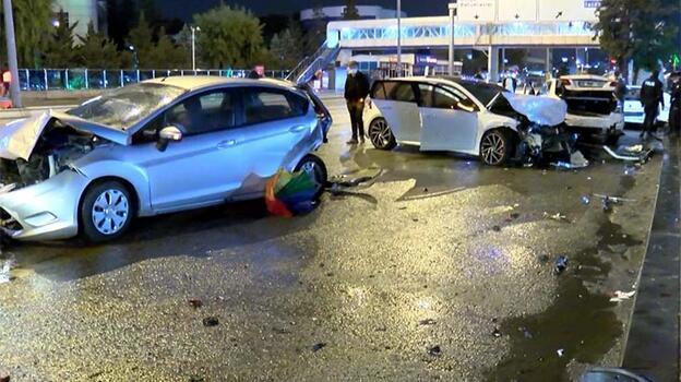 Ankara'da 7 araçlı zincirleme kaza