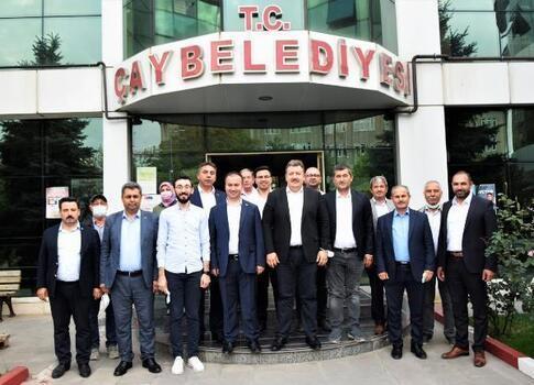 AK Parti heyetinden Başkan Çağrı'ya ziyaret