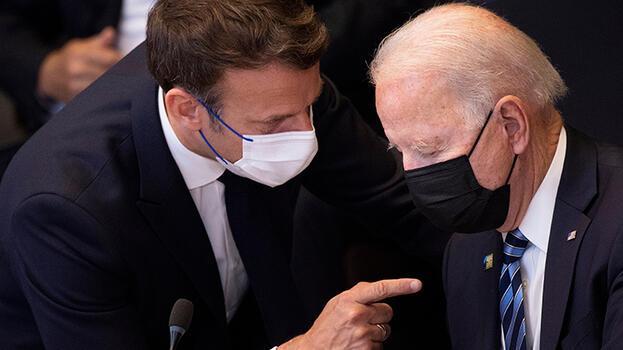Biden ve Macron arasında denizaltı krizi görüşmesi!