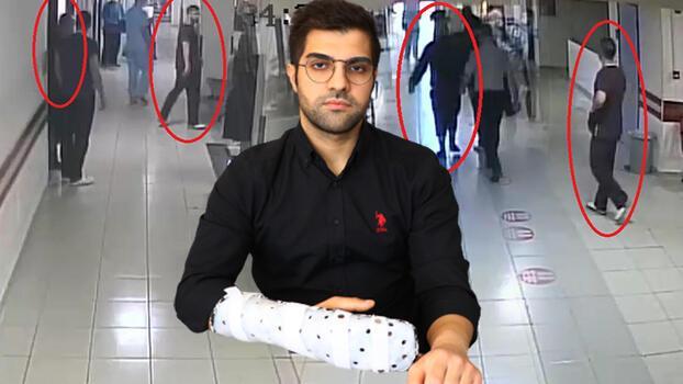 Asistan doktor Ertan İskender'i, güvenlik görevlilerinin gözü önünde bıçaklamış