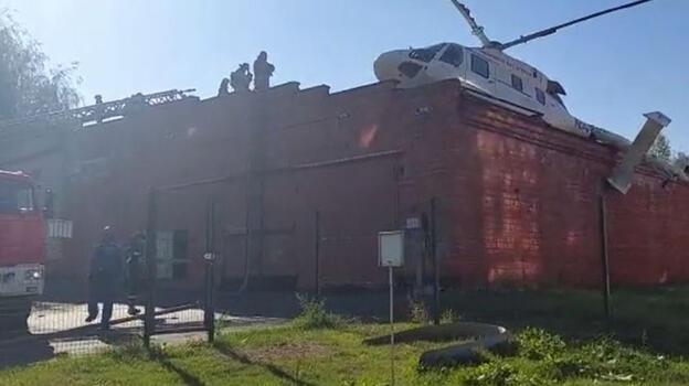 Helikopter hastane çatısına acil iniş yaptı!