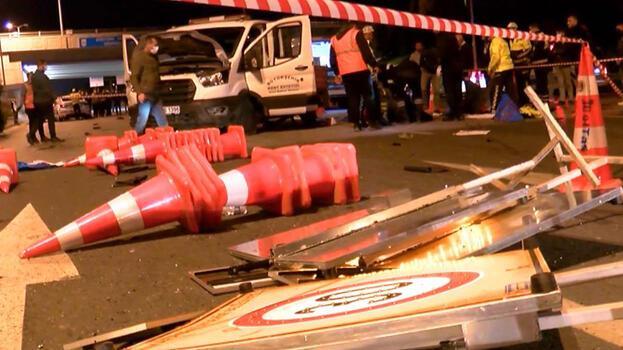 Otomobil belediye işçilerine çarptı! Ölü ve yaralılar var...