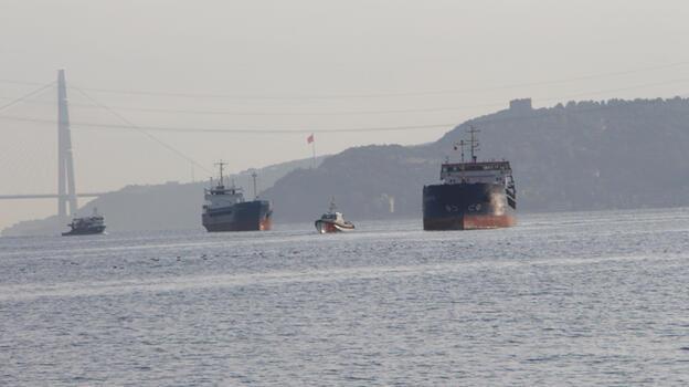 Son dakika: İstanbul Boğazı'nda Türk ve Rus bandralı 2 yük gemisi çarpıştı