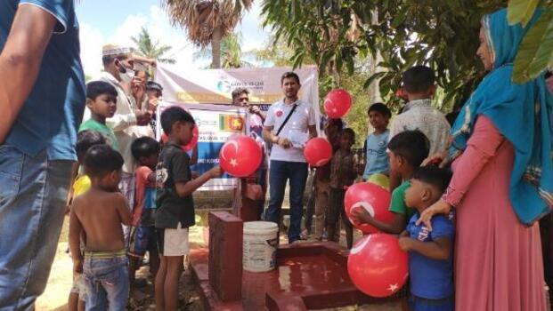 Gönül elçileri, Sri Lanka'da su kuyusu açtı