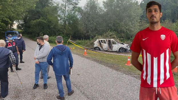 Amatör futbolcu, yanan aracında ölü bulundu