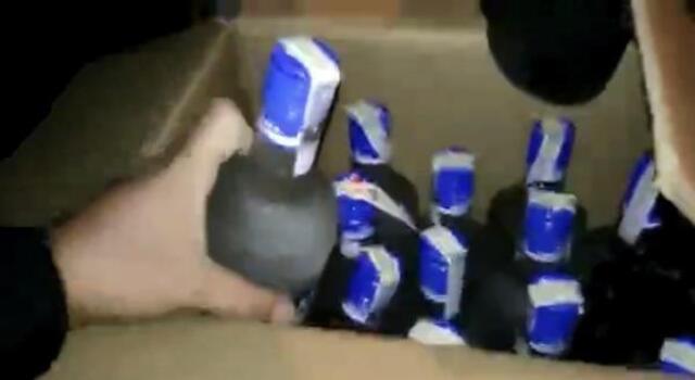 Tekirdağ'da polisin durdurduğu otomobilde 60 şişe kaçak içki ele geçirildi