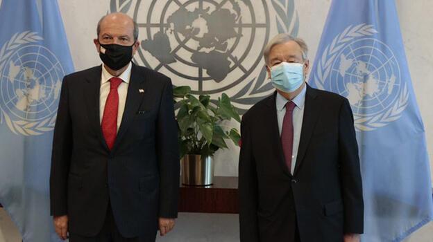 BM Genel Sekreteri Guterres KKTC Cumhurbaşkanı Tatar ile görüştü