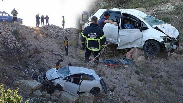 Kütahya'da otomobil şarampole yuvarlandı! Sürücü yaralı, eşi öldü