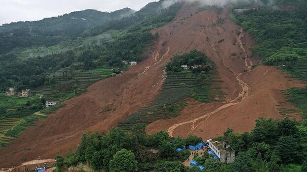 Çin'de heyelan! 1 kişi öldü, 2 kişi yaralandı