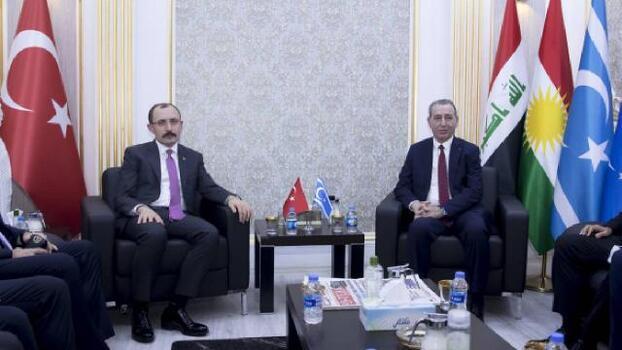 Ticaret Bakanı Muş, Erbil'de Türkmen Bakan Maruf ile görüştü