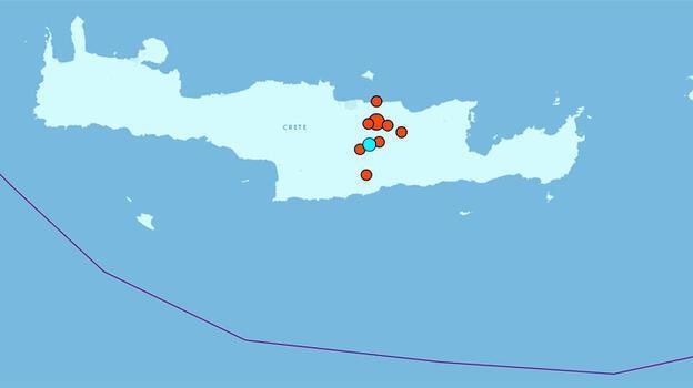 Son dakika... Girit'te bu kez 5.3 büyüklüğünde deprem