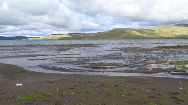 Sular 10 metre çekildi! Bölgede tedirginlik