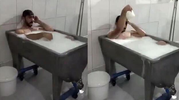 Konya'daki 'süt banyosu' görüntülerine ilişkin iki sanığın yargılaması sürüyor