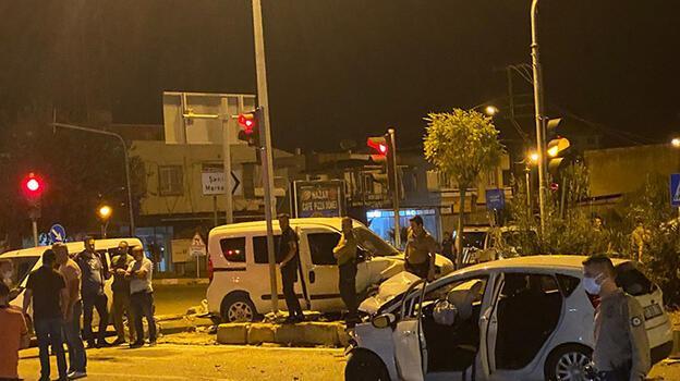 Adana'da trafik kazası: 2'si polis 5 kişi yaralandı
