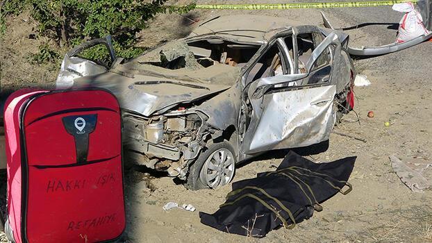 Son dakika... Otomobil şarampole devrildi! Sürücü öldü, eşi yaralı