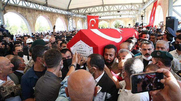 Şehit polis Fatih Doğan, son yolculuğuna uğurlandı