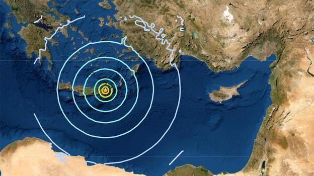 Son dakika... Girit'te 6.3 büyüklüğünde deprem