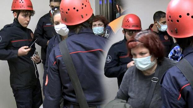 Avcılar'da asansörde mahsur kalan 5 kişi kurtarıldı!