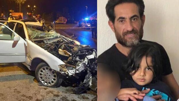 Denizli'de feci kaza! Sürücü ve 4 yaşındaki oğlu öldü