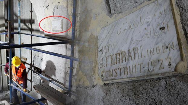 Haldun Taner Sahnesi'nin restorasyon çalışmalarında mimar kitabesi bulundu