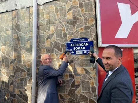 Sanatçı Ali Ercan'ın adı sokağa verildi