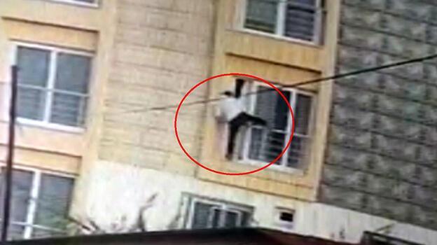 Hırsızlık için girdiği dairede ev sahibiyle karşılaşınca pencereden atlayıp kaçtı