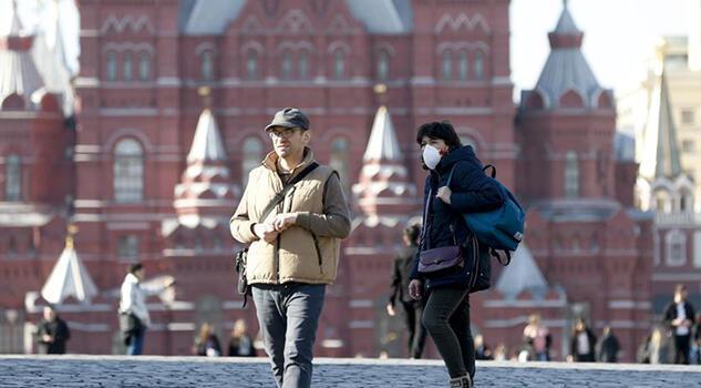 Rusya'da salgının başından bu yana en yüksek vaka sayısı