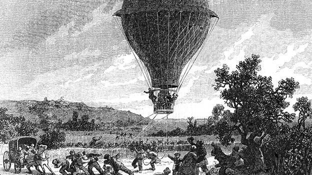 'Kıyamet' böyle koptu! Balonu görenler Vali'nin yanına koştu...