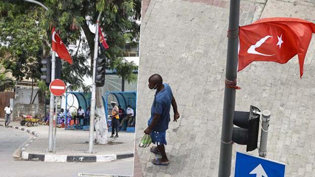 Cumhurbaşkanı Erdoğan'ı bekliyorlar! Luanda Türk bayraklarıyla donatıldı