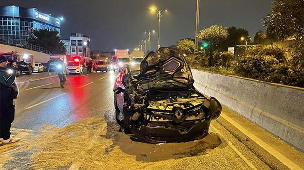 TEM bağlantı yolunda kaza! 2 yaralı