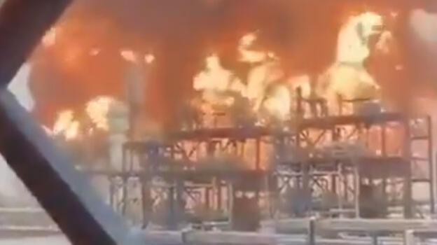 Kuveyt petrol rafinerisinde büyük yangın!