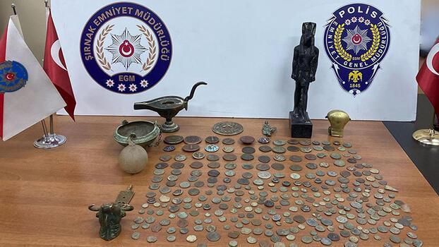 Şırnak'ta tarihi eser operasyonu! 3 kişi gözaltına alındı