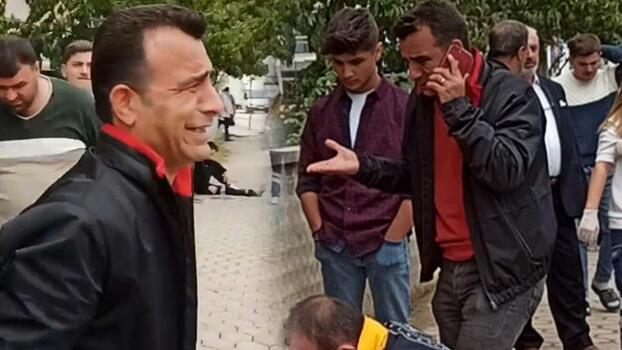 Kazada yaralanan oğlunu görünce gözyaşı döktü