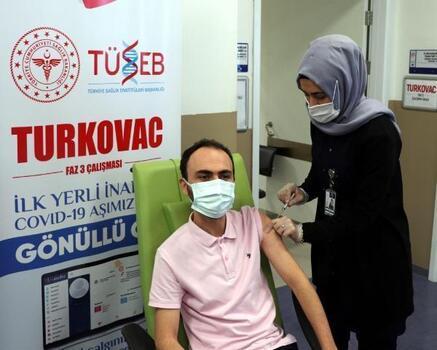 Turkovac hatırlatma dozu, Şehir Hastanesindeki gönüllülere uygulandı