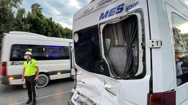 Can pazarı! Özel halk otobüsü ile minibüs çarpıştı