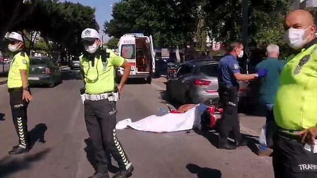 Feci ölüm! Elektrikli bisiklet devrildi, otobüsün altında kaldı